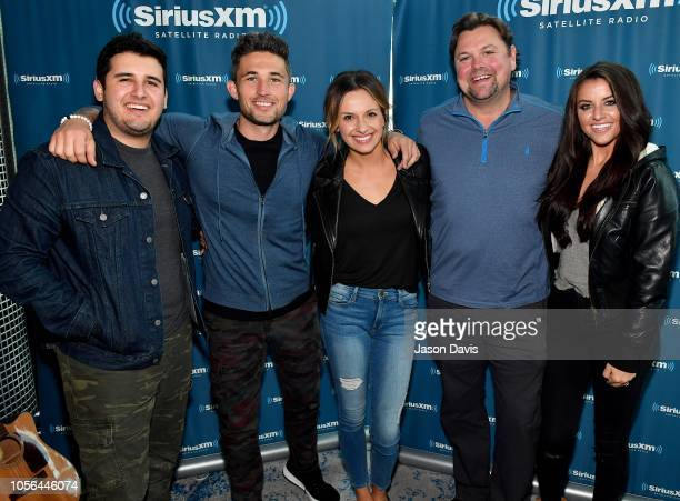 Tommy Massad Recording Artists Michael Ray and Carly Pearce SiriusXM Host Storme Warren and Mary Carlisle Callahan arrive at SiriusXM Studios on...