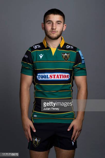 Tommy Matthews of Northampton Saints poses for a portrait during the Northampton Saints squad photocall for the 20192020 Gallagher Premiership Rugby...