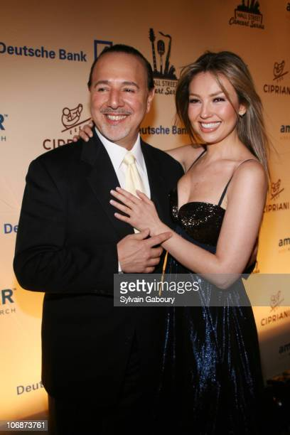 Tommy Mattola and Thalia during Gloria Estefan kicked off the 2006 Cipriani Deutsche Bank Concert Series benefiting AmFAR at Cipriani Wall Street at...