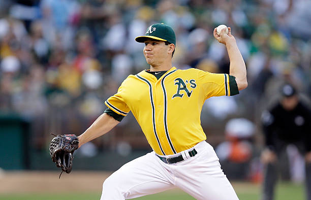 Tommy Milone of the Oakland Athletics