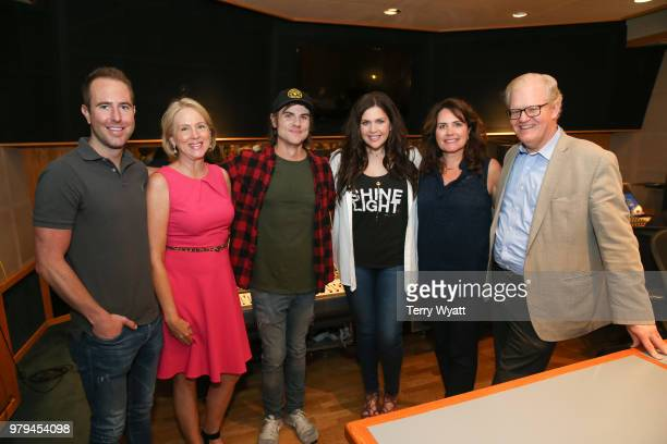 Tommy Moore Elizabeth Roof Producer Ross Copperman Singersongwriter Hillary ScottLorie Lytle and Stuart Dill attend ACM Lifting Lives Music Camp...