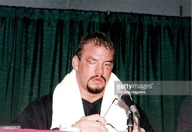 Tommy Morrison looks on during a press conference after losing the fight against Lennox Lewis at the Convention Center on October 71995 in Atlantic...
