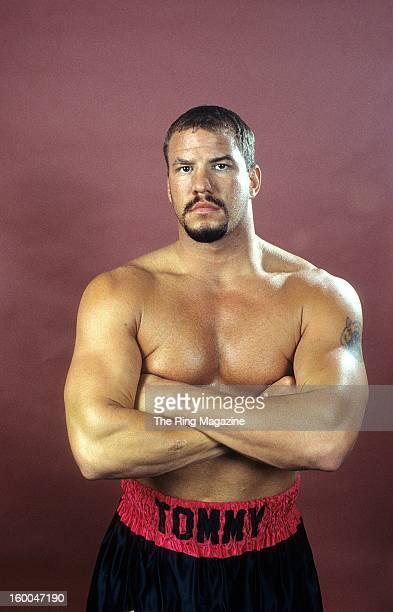 Tommy Morrison poses for a portrait in 1995 in Atlantic CityNew Jersey