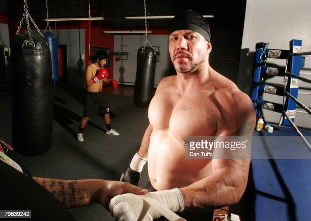 Tommy Morrison poses for a portrait in Los Angeles California on December 5 2007
