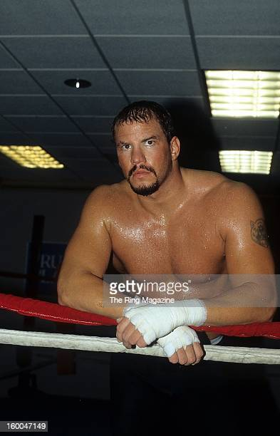 Tommy Morrison trains in 1995 in Atlantic City New Jersey