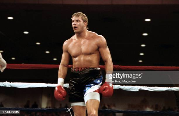 Tommy Morrison walks in the ring against Ray Mercer during the fight at the Convention Center in Atlantic City New Jersey Ray Mercer won the WBO...