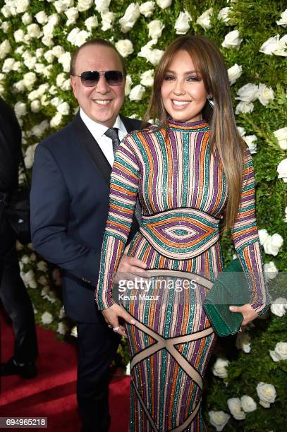 Tommy Mottola and Thalia attend the 2017 Tony Awards at Radio City Music Hall on June 11 2017 in New York City