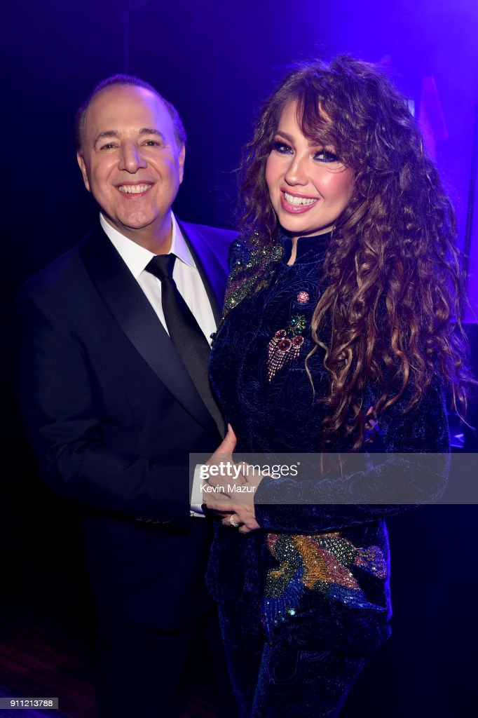 Tommy Mottola and Thalia attend the Clive Davis and Recording Academy Pre-GRAMMY Gala and GRAMMY Salute to Industry Icons Honoring Jay-Z on January 27, 2018 in New York City.