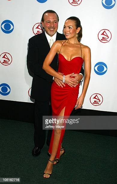 Tommy Mottola and Thalia during 4th Annual Latin GRAMMY Awards Arrivals at American Airlines Arena in Miami Florida United States