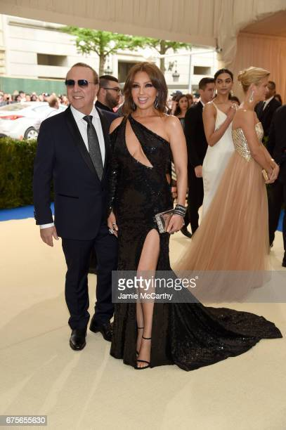 Tommy Mottola and Thalia Mottola attend the 'Rei Kawakubo/Comme des Garcons Art Of The InBetween' Costume Institute Gala at Metropolitan Museum of...