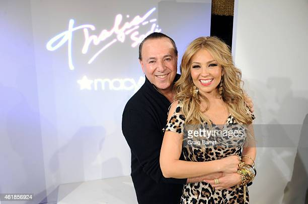 Tommy Mottola and Thalia Sodi attend the Thalia Sodi Collection Preview at Goldbar on January 20 2015 in New York City