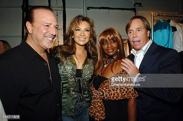 Tommy Mottola, Thalia, Janice Combs and Tommy Hilfiger