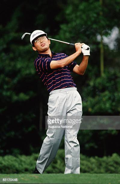 Tommy Nakajima in the finish position during the 1989 Masters Tournament at Augusta National Golf Club in April in Augusta, Georgia.