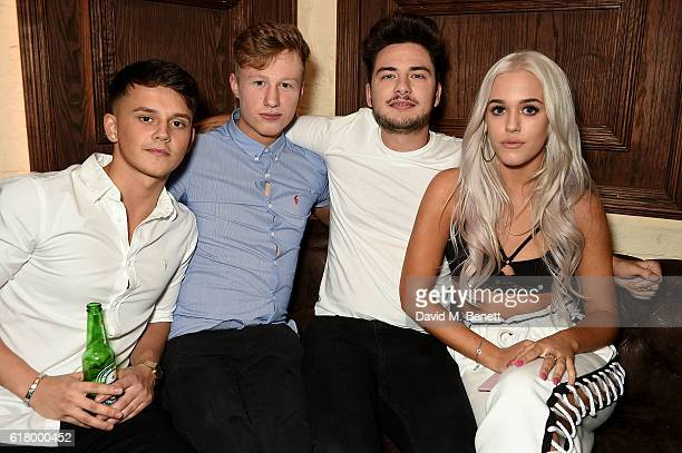 Tommy Napolitano and Lottie Tomlinson attend a party to launch her collection Nails Inc X Lips Inc Matchbox collection at Tape London on October 25...