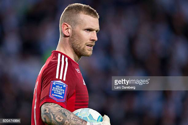 Tommy Naurin goalkeeper of GIF Sundsvall during the Allsvenskan match between Malmo FF v GIF Sundsvall at Swedbank Stadion on April 11 2016 in Malmo...