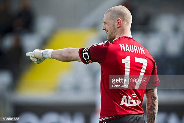 Tommy Naurin goalkeeper of GIF Sundsvall during the Allsvenskan match between BK Hacken and GIF Sundsvall at Bravida Arena on April 24 2016 in...