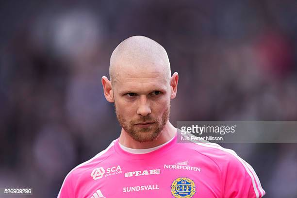 Tommy Naurin goalkeeper of GIF Sundsvall during the Allsvenskan match between Hammarby IF and GIF Sundsvall at Tele2 Arena on May 1 2016 in Stockholm...
