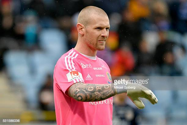Tommy Naurin goalkeeper of GIF Sundsvall during the Allsvenskan match between IFK Norrkoping and GIF Sundsvall at Ostgotaporten on May 15 2016 in...