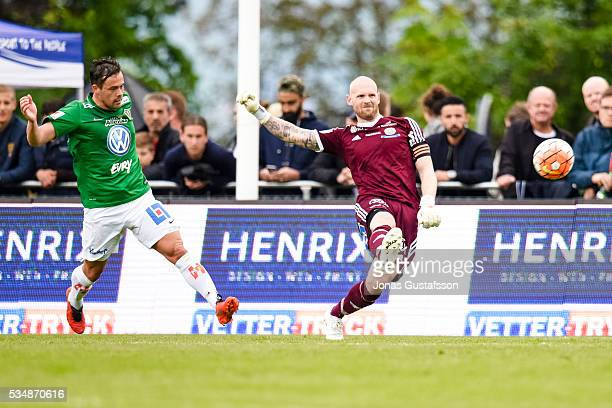 Tommy Naurin goalkeeper of GIF Sundsvall during the allsvenskan match between Jonkopings Sodra IF and GIF Sundsvall at Stadsparksvallen on May 28...