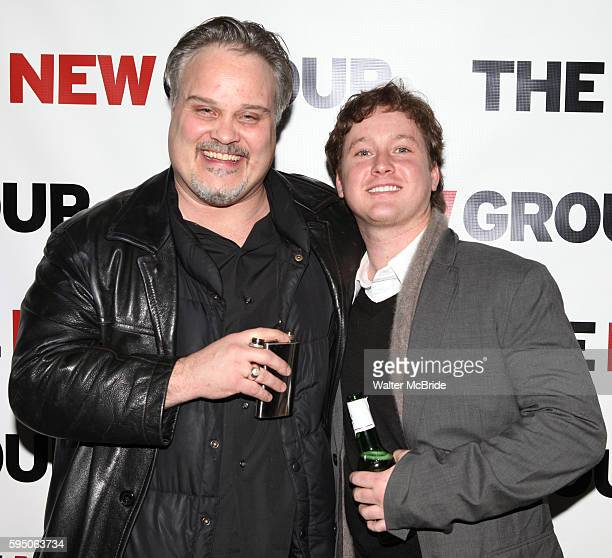 "Tommy Nohilly & Thomas Guiry attending the Celebration Party for The New Group World Premiere Production of ""Blood From A Stone"" at 404 in New York..."