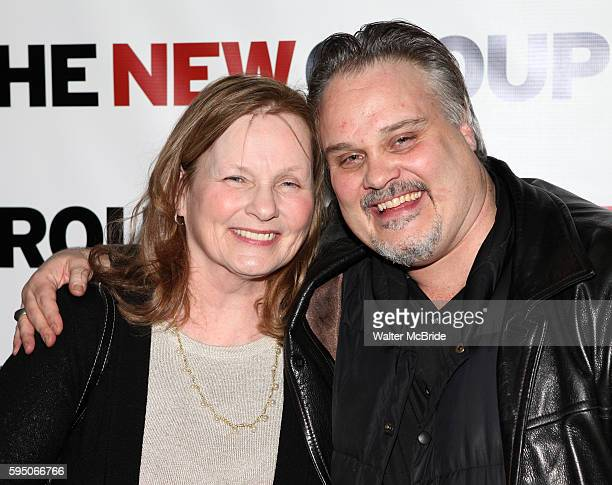 "Tommy Nohilly with his mother attending the Celebration Party for The New Group World Premiere Production of ""Blood From A Stone"" at 404 in New York..."