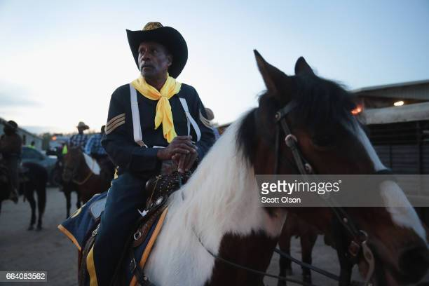 Tommy O Penson a Buffalo Soldier reenactor participates in the Bill Pickett Invitational Rodeo on April 1 2017 in Memphis Tennessee The original...