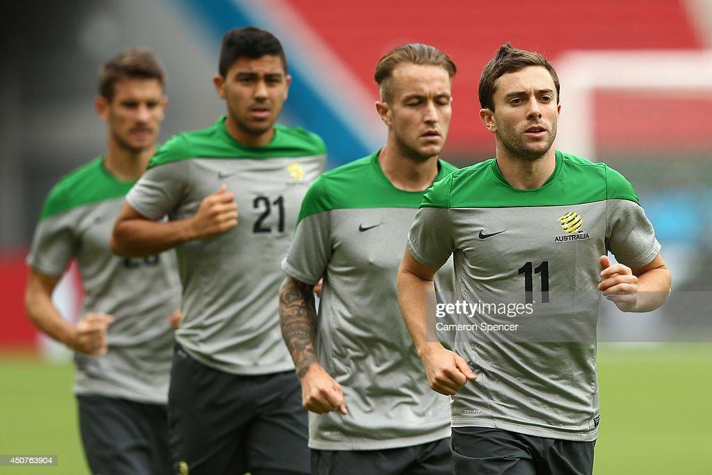 Australia Training & Press Conference - 2014 FIFA World Cup