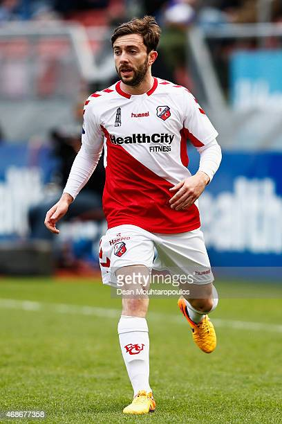 Tommy Oar of Utrecht in action during the Dutch Eredivisie match between FC Utrecht and Ajax Amsterdam held at Stadion Galgenwaard on April 5 2015 in...