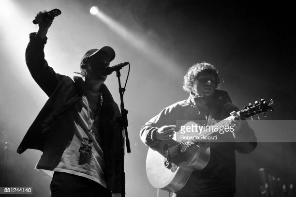 Tommy O'Dell and Johnny Took of DMA'S perform at Usher Hall on November 28 2017 in Edinburgh Scotland