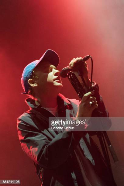 Tommy O'Dell of DMA'S performs at Usher Hall on November 28 2017 in Edinburgh Scotland