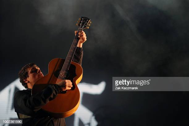Tommy O'Dell of DMA's performs on stage during Splendour in the Grass 2018 on July 20 2018 in Byron Bay Australia