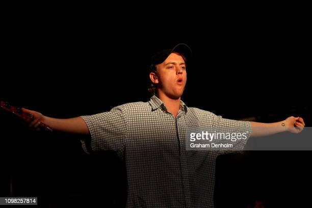 Tommy O'Dell of DMA's performs on the AO Live Stage during day ten of the 2019 Australian Open at Melbourne Park on January 23, 2019 in Melbourne,...