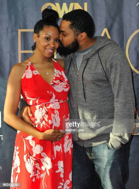 Tommy Oliver and Codie Elaine Oliver attend OWN's Black Love Clips Conversation event at The Ricardo Montalban Theatre on May 28 2018 in Hollywood...