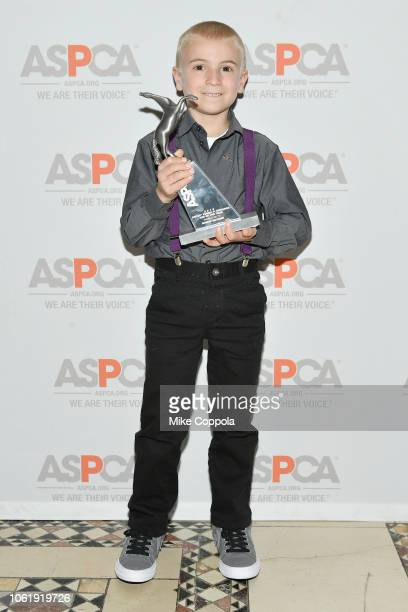 Tommy P Monahan Kid of Year Award Honoree Roman McConn attends the ASPCA Hosts 2018 Humane Awards Luncheon at Cipriani 42nd Street on November 15...