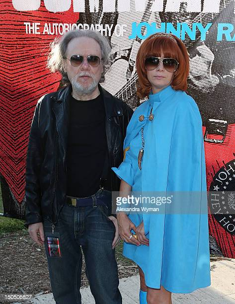 Tommy Ramone and Linda Ramone at The 8th Annual Johnny Ramone Tribute held at The Hollywood Forever Cemetery on August 19, 2012 in Hollywood,...