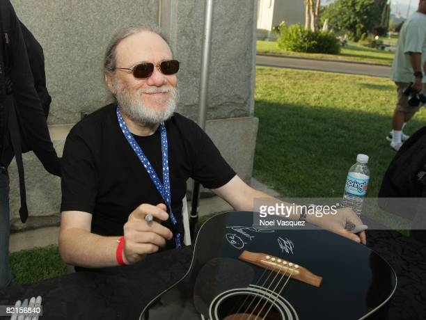 Tommy Ramone attends the Tribute To Johnny Ramone at the Forever Hollywood Cemetery on August 1 2008 in Los Angeles California