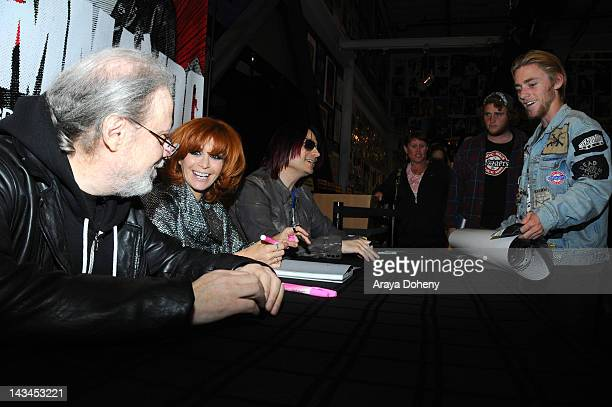 Tommy Ramone Linda Ramone and John Cafiero sign copies of the newly released Commando The Autobiography of Johnny Ramone at Amoeba Music on April 26...