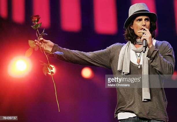 Tommy Reeve performs during The Dome 43 music show at the Color Line Arena on August 31 2007 in Hamburg Germany