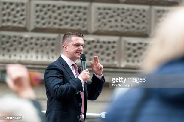 Tommy Robinson addressed his supporters outside the court before his hearing The rightwing leader whose real name is Stephen YaxleyLennon was...