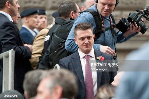 Tommy Robinson leaving the stage after giving a speech The rightwing leader whose real name is Stephen YaxleyLennon was released in August on appeal...