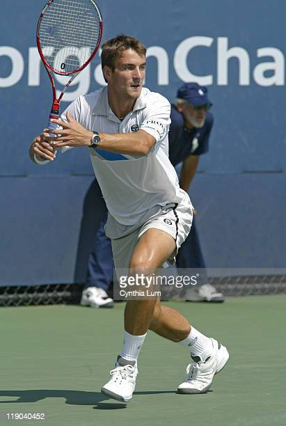 Tommy Robredo during his match against Gustavo Kuerten in the second round of the 2005 US Open at the USTA National Tennis Center in Flushing New...