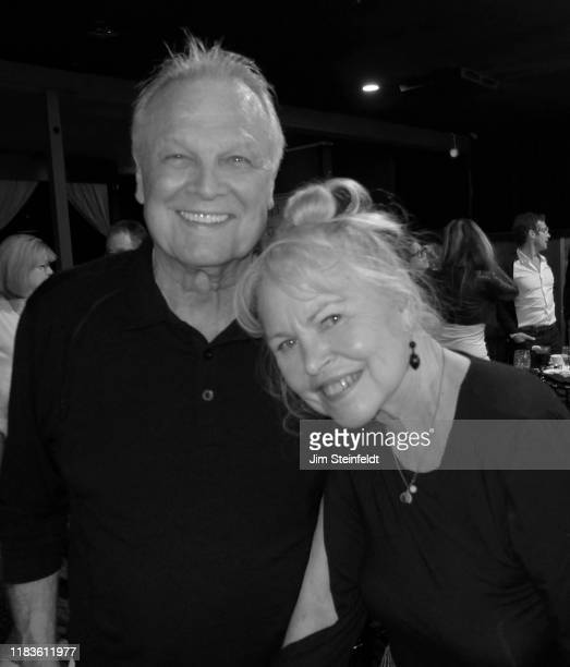 Tommy Roe with Michelle Phillips at Vitello's in Studio City California on October 20 2019