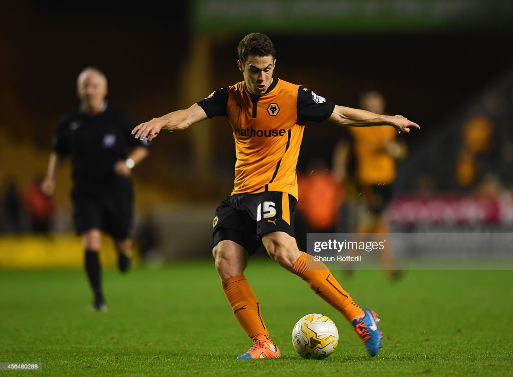 Tommy Rowe of Wolverhampton Wanderers in action during the Sky Bet Championship match between Wolverhampton Wanderers and Huddersfield Town at Molineux on October 1, 2014 in Wolverhampton, England.