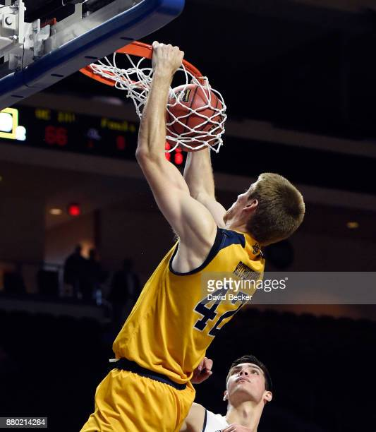 Tommy Rutherford of the UC Irvine Anteaters dunks the ball against the Northern Arizona Lumberjacks during the 2017 Continental Tire Las Vegas...
