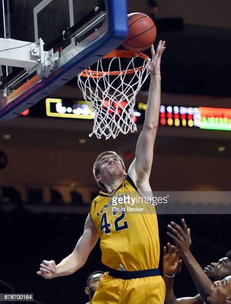Tommy Rutherford of the UC Irvine Anteaters shoots against the Northern Arizona Lumberjacks during the 2017 Continental Tire Las Vegas Invitational...