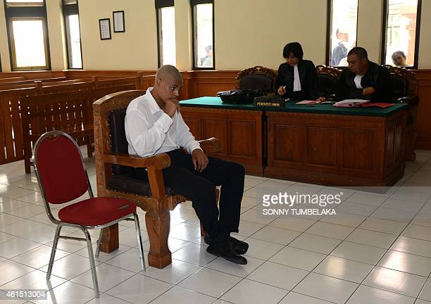 Tommy Schaefer attends his trial in Denpasar on Indonesia's resort island of Bali on January 14, 2015. An American woman and her boyfriend accused of...