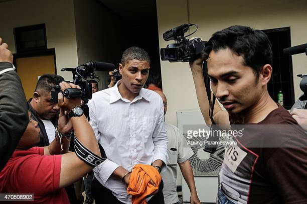 Tommy Schaefer of the United States is escorted from the courtroom after his verdict hearing on April 21, 2015 in Denpasar, Bali, Indonesia. An...