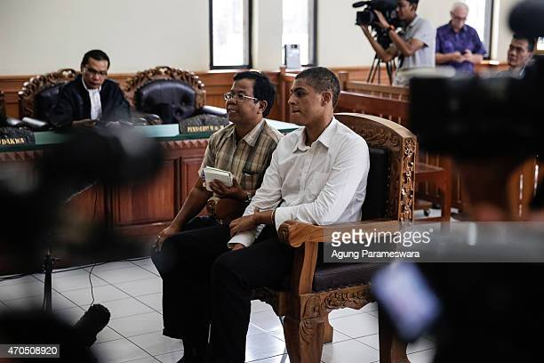 Tommy Schaefer of the United States listens the judge during his verdict hearing on April 21, 2015 in Denpasar, Bali, Indonesia. An Indonesian judge...