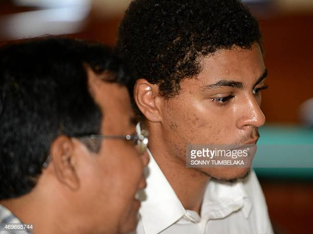 Tommy Schaefer of the US attends his trial inside a room court in Denpasar on Bali island on April 14, 2015. Indonesian prosecutors recommended...
