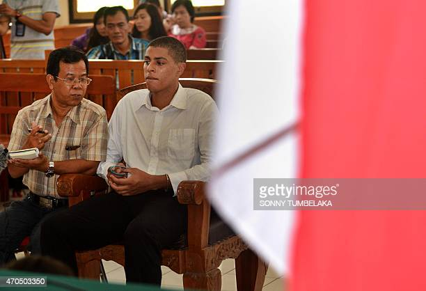 Tommy Schaefer of the US attends the announcement of the verdict in his murder trial, inside a court room in Denpasar on Indonesia's resort island of...